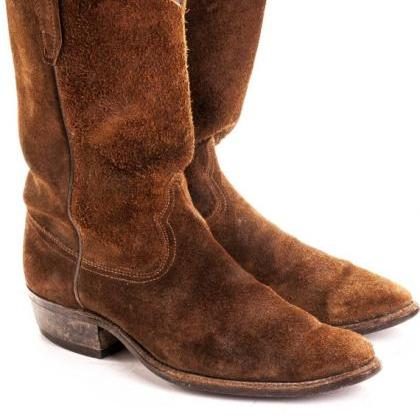MEN'S STYLISH SUEDE COWBOY HANDMA..
