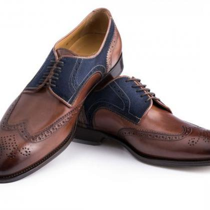 New Leather Two Tone Oxford Shoes O..