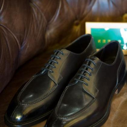 Handmade Black Leather Casual Shoes..