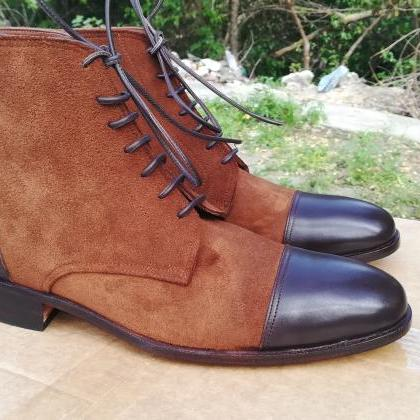 Handmade 2 Tone Brown Color Leather..