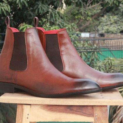 Handmade Men's Ankle High Two Tone ..