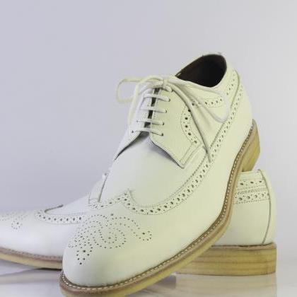 Men's Oxford White Genuine Leather ..