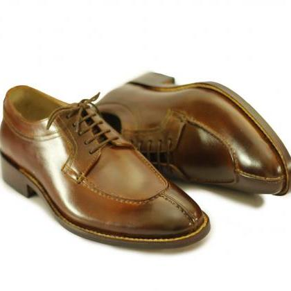 Men's Handmade Brown Split Toe Leat..