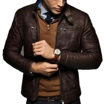 Men's Slim Fit Chocolate Brown Fash..