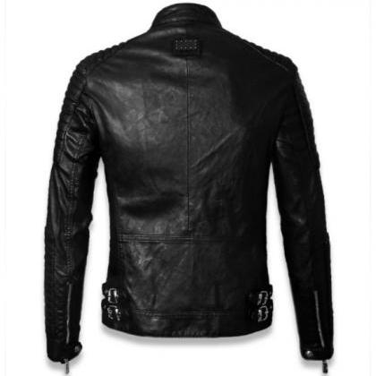 MEN'S MOTORCYCLE LEATHER JACKET, ME..