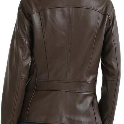 BROWN FRONT FLAP FASHION JACKET FOR..