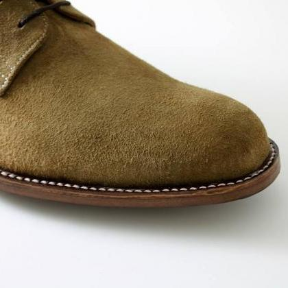 Handmade Olive green Suede Leather ..
