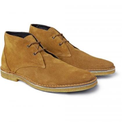 Men's Suede Oxford Shoes