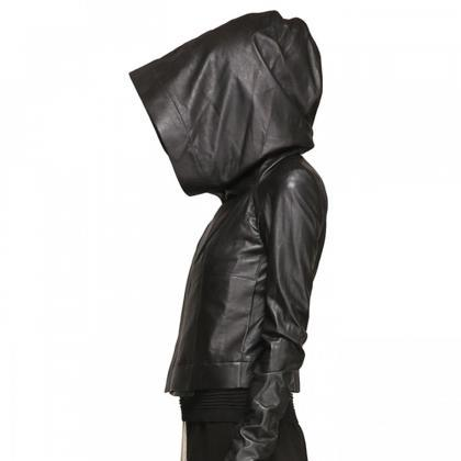 Women's Hooded Original Leather Jac..