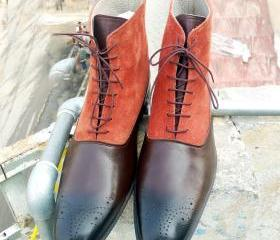 HANDMADE BROWN TWO T..