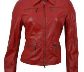 Red Genuine Leather ..
