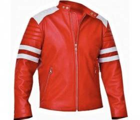 Red Leather Jacket ,..