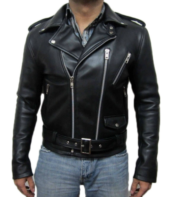 8f2b380c YSL SIGNATURE MOTORCYCLE LEATHER JACKET .MEN LEATHER JACKET