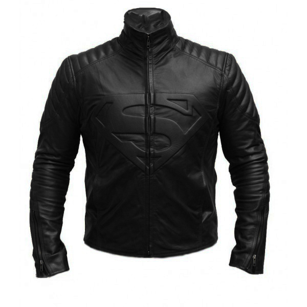 Man of Steel Smallville Leather Biker Move Celebrity Jacket Men