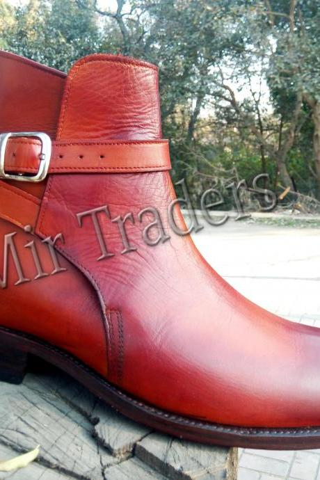 Ankle High Jodhpurs Boots Formal Casual Leather Boots For Men