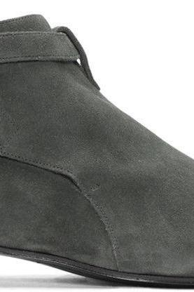 Handmade Jodhpurs Ankle High Suede Leather Grey Formal Boots Men