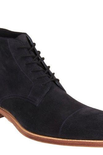 Handmade Black Suede Cap Toe Oxford Dress Formal Lace Up Boots