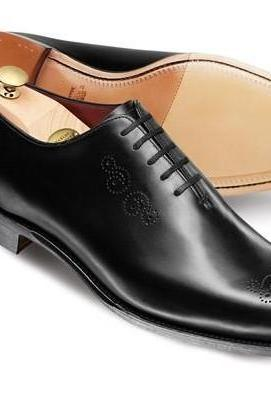 New Handmade Men Leather Lace Up Brogue dress Formal Boots