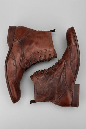 Handmade Wing Tip Lace Up Boot, Men's Brown Leather Ankle Boot, Men Dress formal Boot