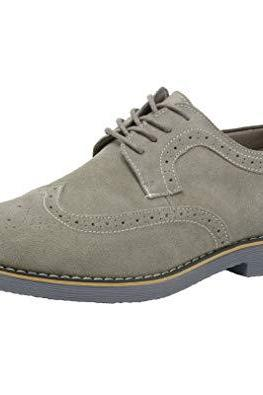 Handmade Gray Suede Stylish Shoes, Men's Lace Up Wing Tip Brogue Designing Shoes