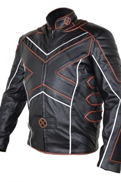 Amazing Motorcycle X Men Wolverine Jacket Movie jacket Celebrity