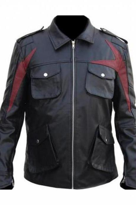 Hollywood Wardrobe Men's Prototype 2 Leather Jacket, Mens Leather jacket