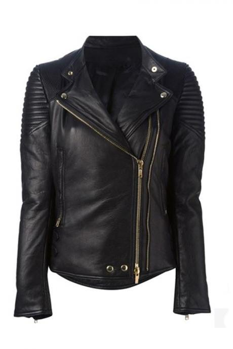 Classic Biker Leather, Womens Biker Leather Jacket