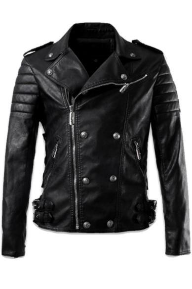 NEW LUXURY STYLE MEN LEATHER JACKET, MENS LEATHER JACKET