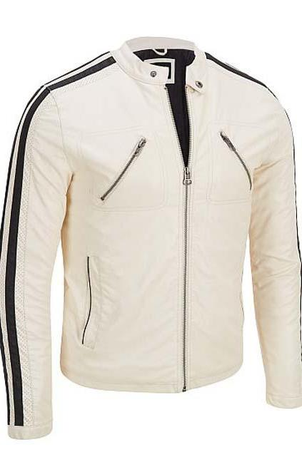 MEN'S JACKET WITH BLACK LINING,MEN LEATHER JACKET