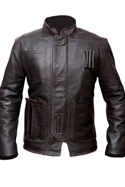 Star Wars Han Solo Jacket, Mens Leather jacket