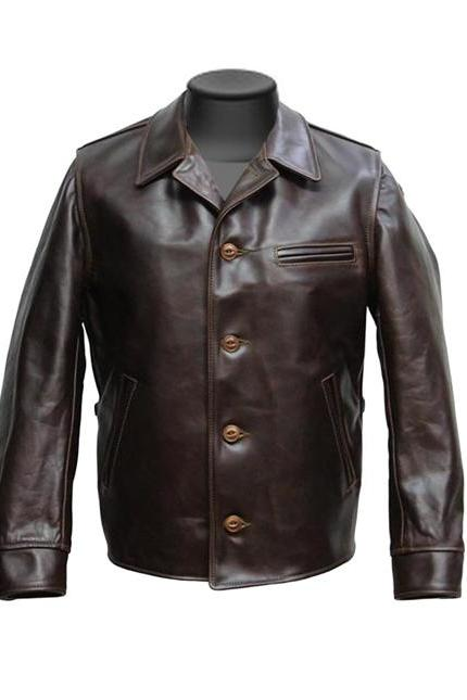 Made to order Biker Brown Leather Jacket Men