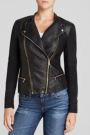 WOMEN'S BLACK LEATHER JACKET, BIKER JACKET WOMEN,BIKER LEATHER JACKET
