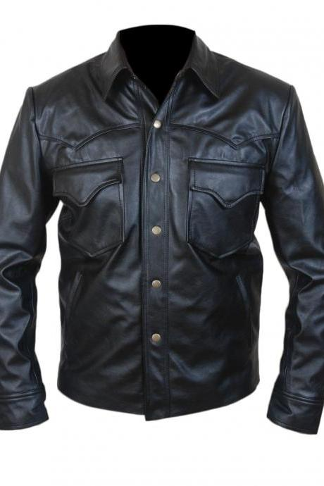New Branded Designer Shirt Collar Soft Lambskin biker Leather Jacket For Men