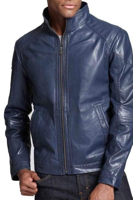 New Men Fashion Designer Leather Jacket For Stylish Men