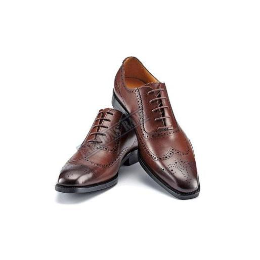 Hand Made Two Tone New Fashion Leather Men Lace Up Formal Dress Oxford Shoes
