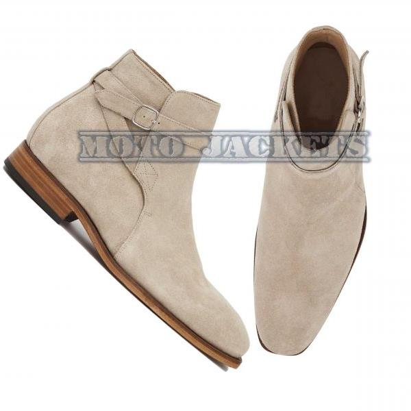 Handmade Jodhpurs Suede Leather Boots, Dress Formal Boots For Men