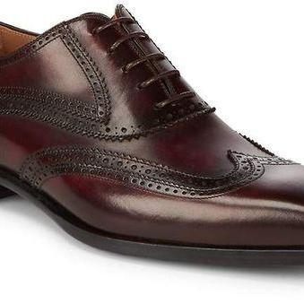 New Handmade Men Wing Tip Brogue Leather Dress Formal shoes