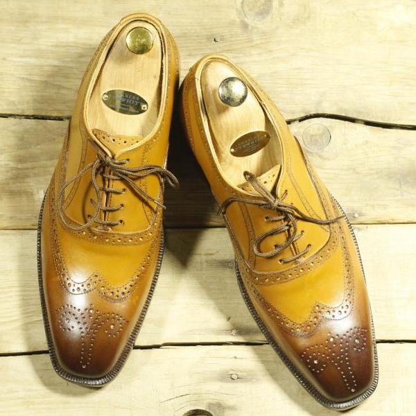 Handmade Tan Leather Stylish Shoes, Men's Wing Tip Brogue Lace Up Shoes