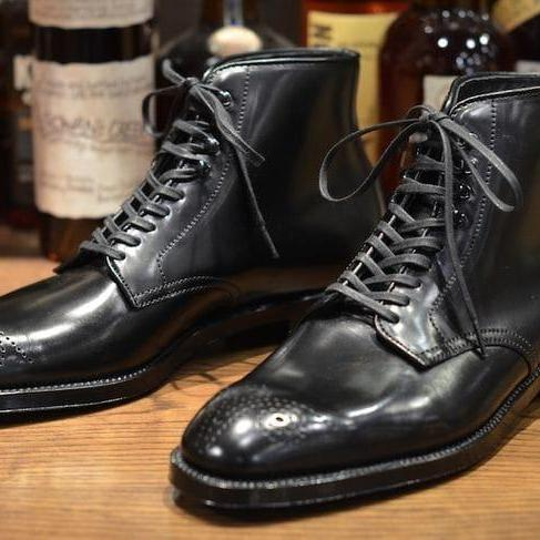 Handmade Black Ankle Brogue Toe Leather Boot,Dress Boot,Men's Boot