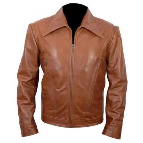X-MEN DAYS OF FUTURE PAST LEATHER JACKET, TAN BROWN LEATHER BIKER JACKET MEN'S
