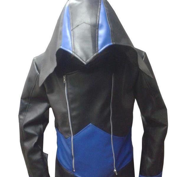 Assassin's Creed 3 Conner Kenway Hoodie Jacket Coat , Mens Leather jacket
