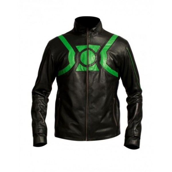 Film Green Lantern Ryan Reynolds Leather Jacket , Mens Leather jacket