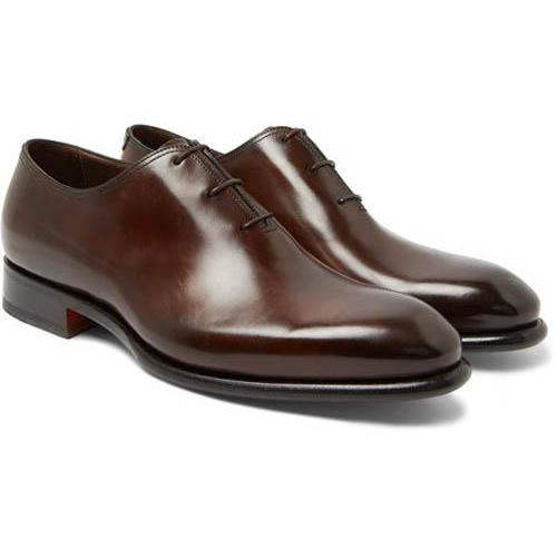 Handmade Men leather Oxford Formal Dress Shoes - Brown