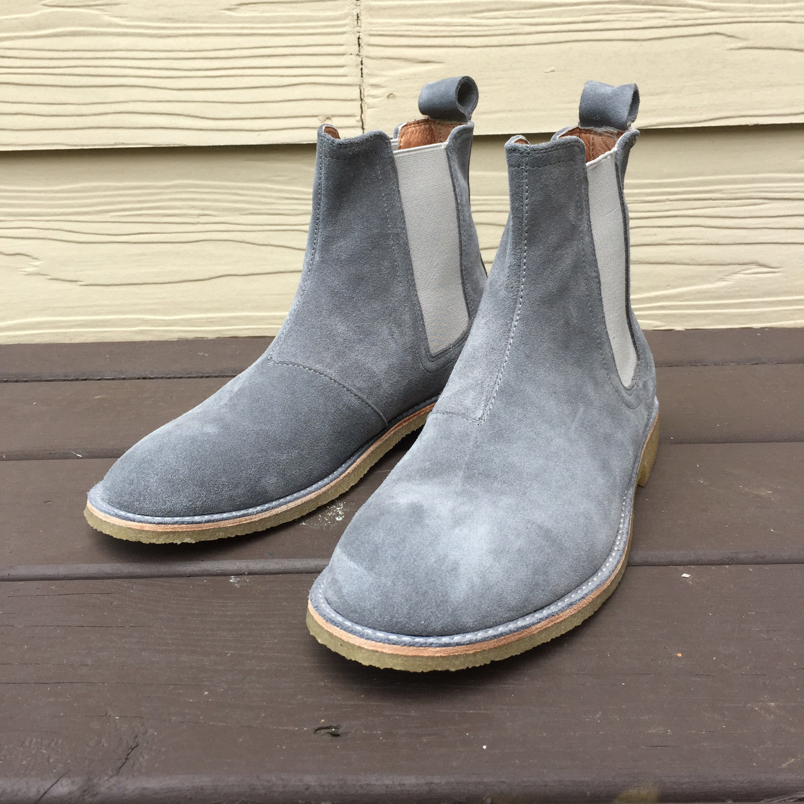 1a938cdf81f8 New Handmade Men Gray Chelsea Boot